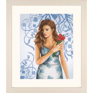 Lanarte Lady in blue aida