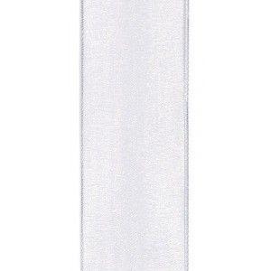 Satijnlint 38mm 009 wit