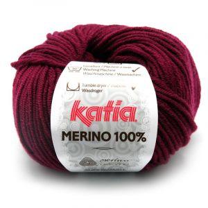 Merino 100% kleur 25 wijnrood