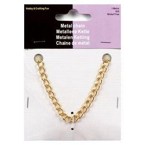 Metalen ketting 1002 goudkleurig