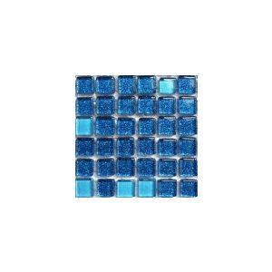 Mini Glitter Ininity Blue 10x10 mm