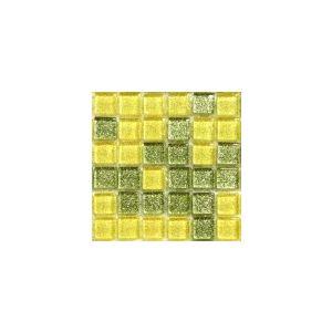 Mini Glitter Lime Lemon 10x10 mm
