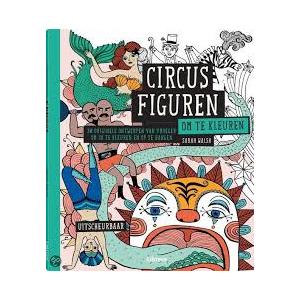 Circusfiguren om te kleuren