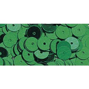Pailletten glad blauw-groen 6mm