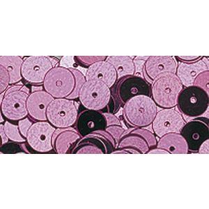 Pailletten glad donkerroze 6mm
