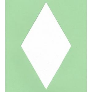 "Paper pieces 6 point diamond 3"""