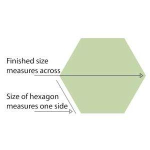 "Paper pieces Hexagon 1 1/2"""