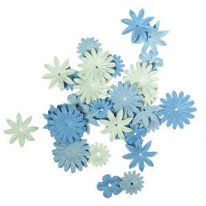 Papieren bloemen blauwtinten Rayher 78 955 08
