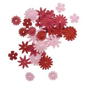 Papieren bloemen rood-/rozetinten Rayher 78 955 18