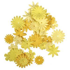 Papieren bloemen geeltinten Rayher 78 955 20