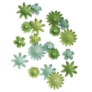 Papieren bloemen groen Rayher 78 955 29