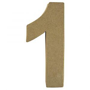 Papiermaché cijfer 1 Rayher 71 727 000