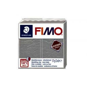 Fimo Staedtler Klei Fimo leather-effect duif grijs