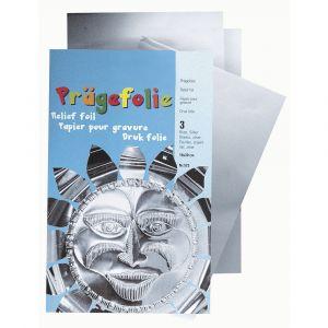 Reliëffolie zilver