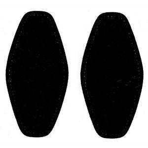 Elleboog stukken 000 suedine zwart 1 paar