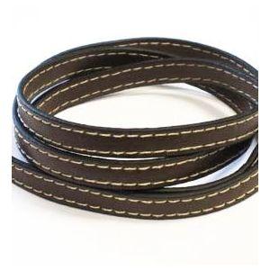 Leren band 9mm x 1 meter donker bruin 1 st