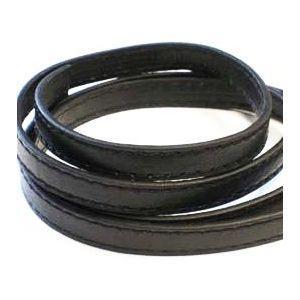 Leren band 9mm x 1 meter zwart 1 st