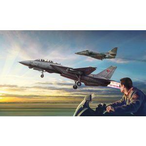 """Italeri """"Top Gun""""F-14A vs A-4F 2 modellen"""