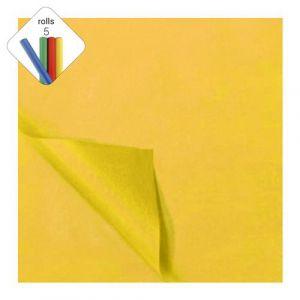 Zijdevloeipapier 1 rol à 5 vel geel