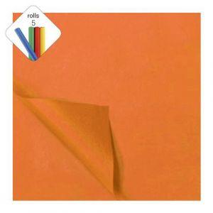 Zijdevloeipapier 1 rol à 5 vel oranje