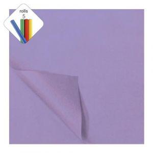 Zijdevloeipapier 1 rol à 5 vel lila