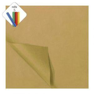 Zijdevloeipapier 1 rol à 5 vel goud
