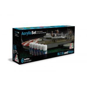 Italeri  acrylverfset voor M.T.B. and Ships