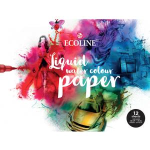 Talens Ecoline liquid watercolour paper 24x32cm 12 vel