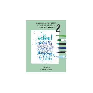 Brushlettering voor iedereen oefenschrift no. 2