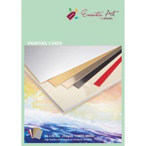 Encaustic papier schilderskaart A4 assorti 24st