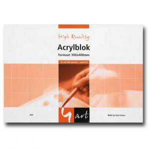 4art acrylverfblok 24x32cm 360grs 10vel