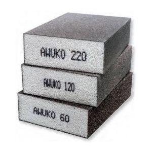 Schuurblok 3-delig korrel 60, 120 en 220 599008