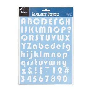 Alfabet sjabloon nr.4
