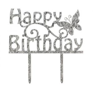 Cake star cake topper Happy Birthday  glitter 1st