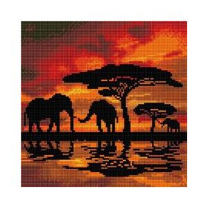 Crystal Art Kit® Canvas collection Elephant Silhouette