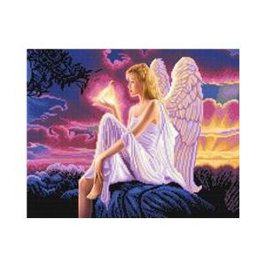 Crystal Art Kit® Canvas met led verlichting Angel Dusk