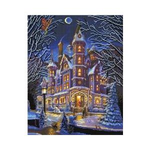 Crystal Art Kit® Canvas met led verlichting home is where the magic is