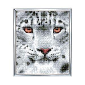 Crystal Art Kit® Snow leopard