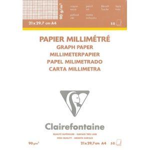 Clairefontaine millimeterpapier A4 90 gram 50 vel