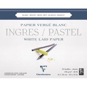 Ingres pastel papier 24x30cm 130 gram wit