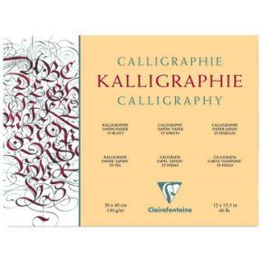 Kalligrafiepapier blok 130 gram 30x40cm 25 vel