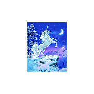 Crystal Art Kit® Canvas met led verlichting Moonlight Unicorn