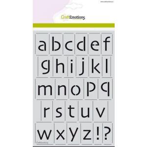 Sjabloon alfabet kleine letters skai 21mm