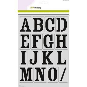 Sjabloon alfabet vintage 56mm 185070/2201