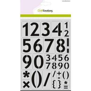 Sjabloon cijfers basic 56mm 185070/2213