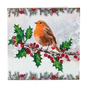 Crystal Art card kit Christmas Robin CCK-XM27