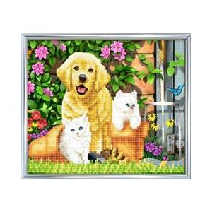 Crystal Art Kit® Cat and dog friends