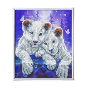 Crystal Art Kit® Lions Cub inclusief fotolijst inclusief fotolijst CAM-22