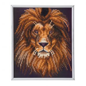 Crystal Art Kit® Lion inclusief fotolijst inclusief fotolijst CAM-23