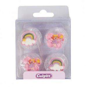 Culpitt Suikerdecoratie Fairy rainbow 12 stuks